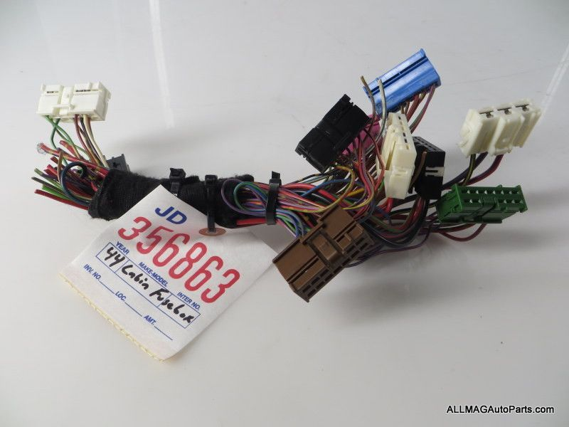 2005-2008 mini cooper interior fuse box wire harness 44 61146906626 r50 r52  r53