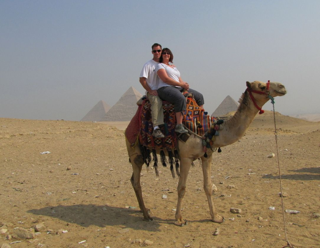 Riding a camel at the pyramids in Cairo was on our bucket list....checked it off on November 2, 2011!!!