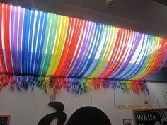 Rainbow strip display.