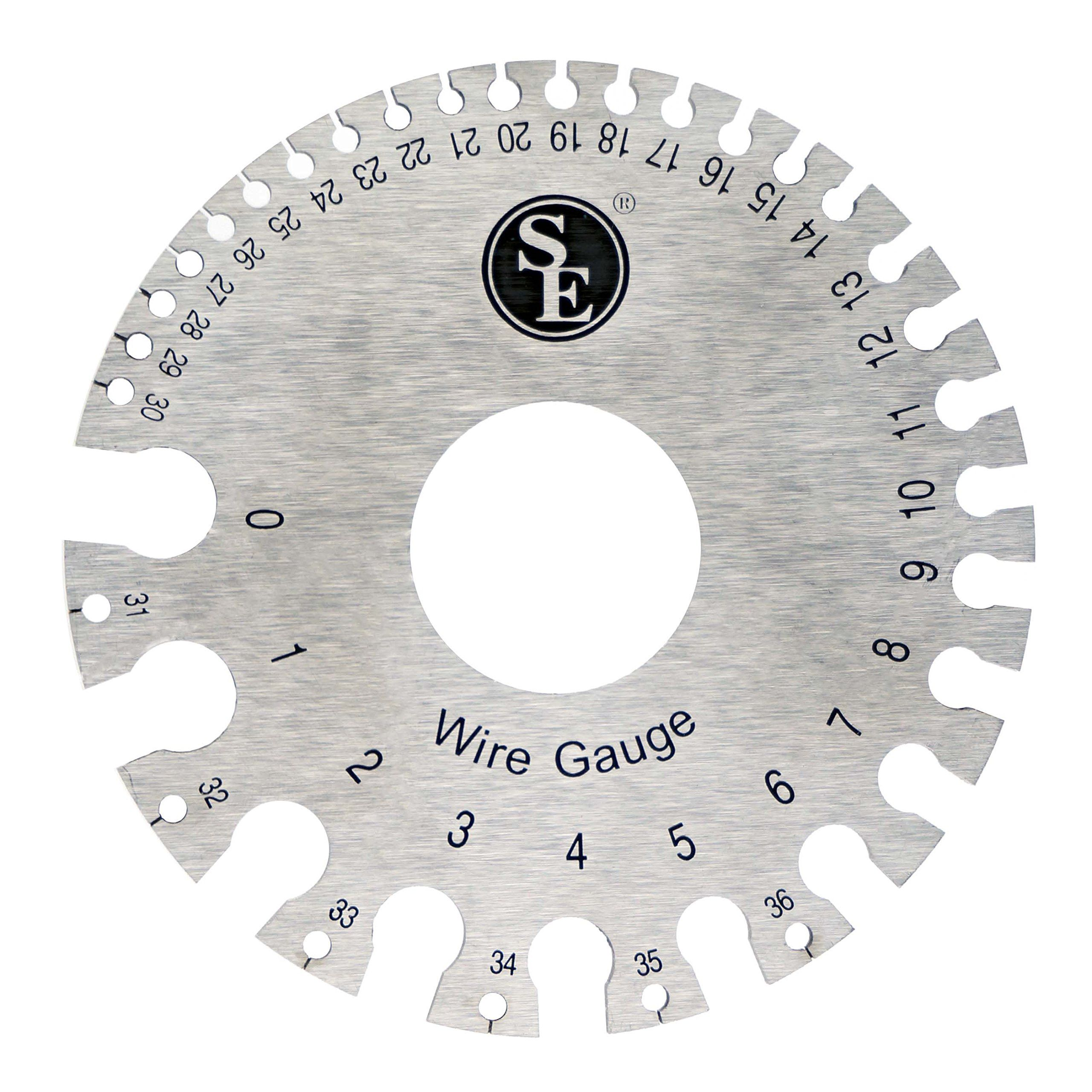Se jt47wg c dual sided non ferrous wire gauge 0 36 american se dual sided non ferrous wire gauge american standard awg sae measurement markings in both awg sae material tempered hardened steel with satin greentooth Image collections
