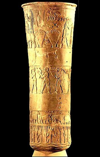 The Warka Vase Or The Uruk Vase Is A Carved Alabaster Stone Vessel