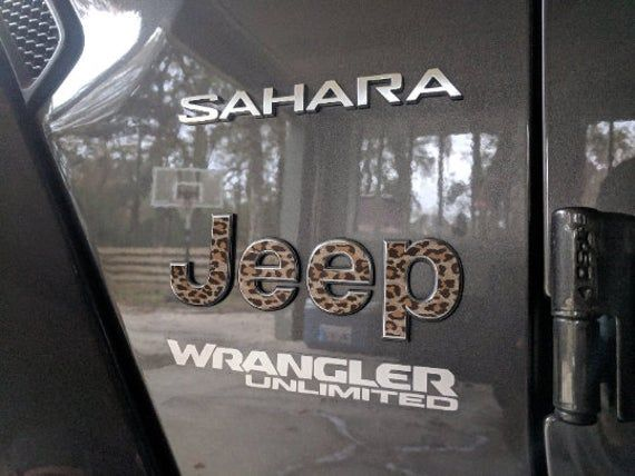 Animal Print – Jeep Wrangler JL 2018 2019 2020 | Sticker Decal Fender Emblem Overlay | Sahara | JLU