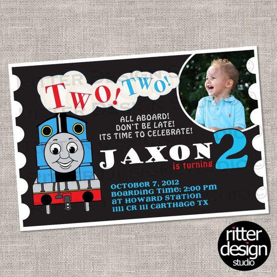 Thomas the Train 2nd Birthday Invitation for other birthdays the – Choo Choo Train Birthday Invitations