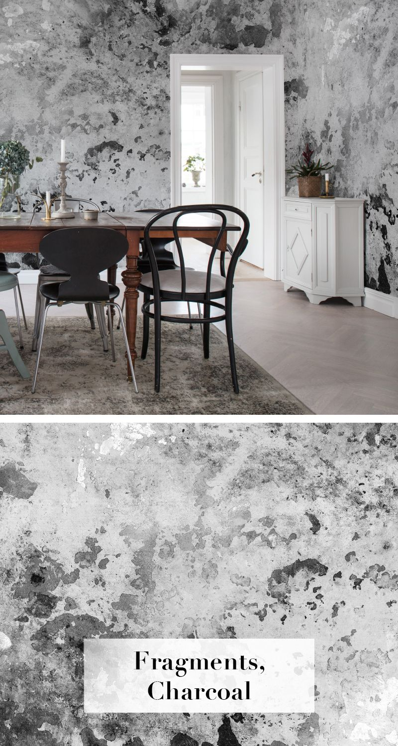 Designer Tapeten Schlafzimmer Fragments Charcoal Tapeten Trend Kollektion Second Moment