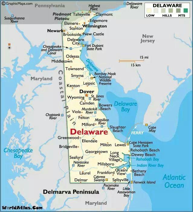 Pin by Balasingam Velu on USA States | Map of delaware ...