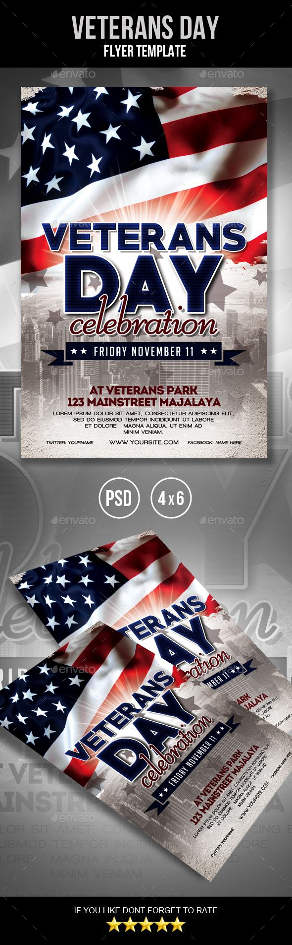 Veterans Day Flyer  Flyer Template Template And Event Flyers