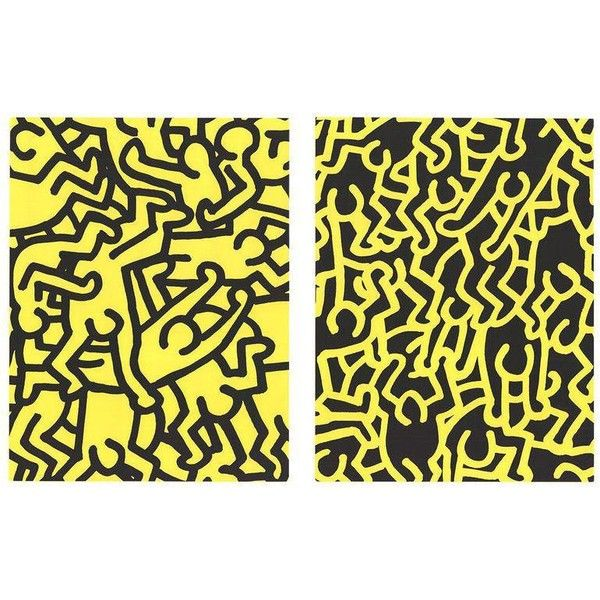 Keith Haring-Playboy KH86-1990 Serigraph ($700) ❤ liked on Polyvore ...