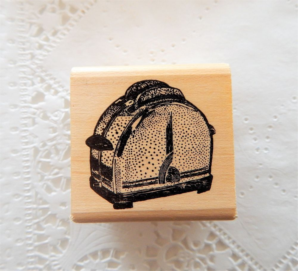 Retro Toaster Rubber Stamp Ken Brown Household Kitchen Appliance ...