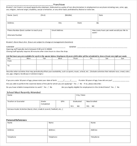 21+ Employment Application Templates Job application