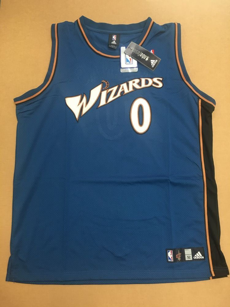 87f1d4587 HAND SIGNED GILBERT ARENAS ADIDAS NBA WIZARDS JERSEY SIZE 52 NEW W TAG  AAA COA (eBay Link)