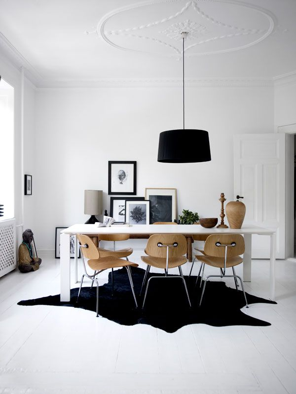 Black white and wood modern eclectic home design - Black owned interior design companies ...