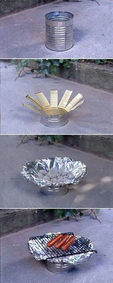 Coffee can grill