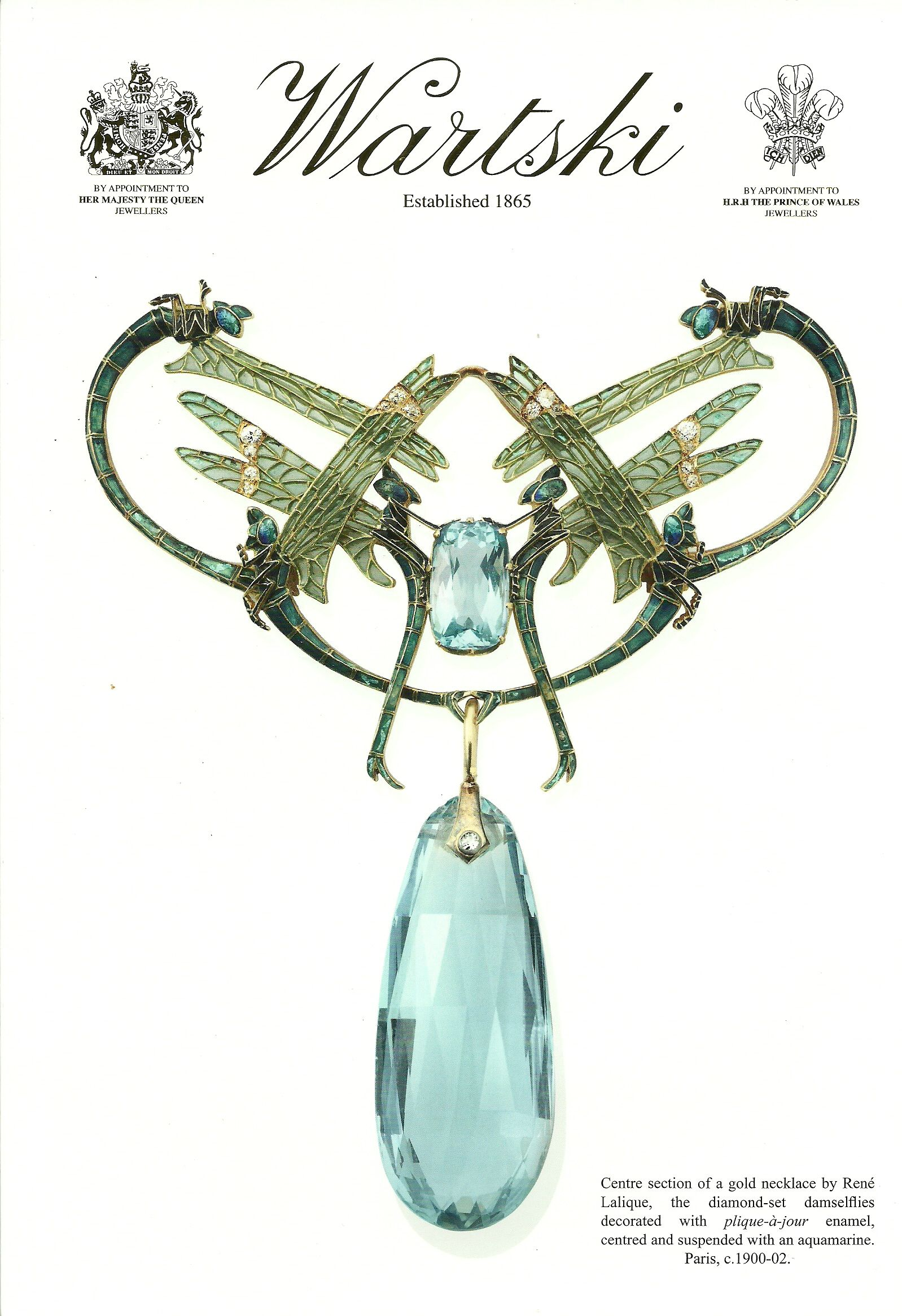 Lalique 1905 Damselflies Necklace | Art Nouveau  We say it at the Tefaf Maastricht and it's so beautiful