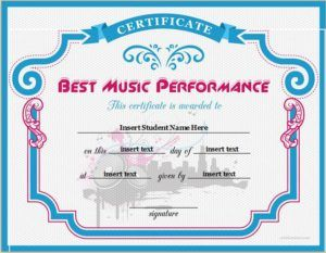 Best music performance certificate template download at http best music performance certificate template download at httpcertificatesinnbest yelopaper Images