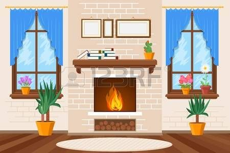 1 068 Fireplace Living Room Stock Vector Illustration And Royalty Living Room Clipart Classic Living Room Room Design