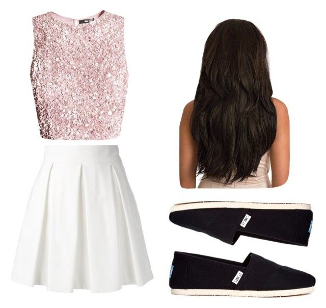 """""""Untitled #291"""" by syshrn on Polyvore featuring Boutique Moschino and TOMS"""