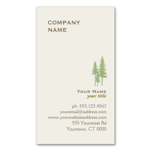 Green Trees Logo Business Card. Make your own business card with this great design. All you need is to add your info to this template. Click the image to try it out!