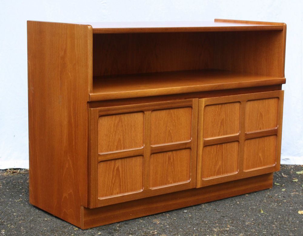 Midcentury Vintage Teak Sideboard By Nathan Small TV Stand / Storage /  Cabinet
