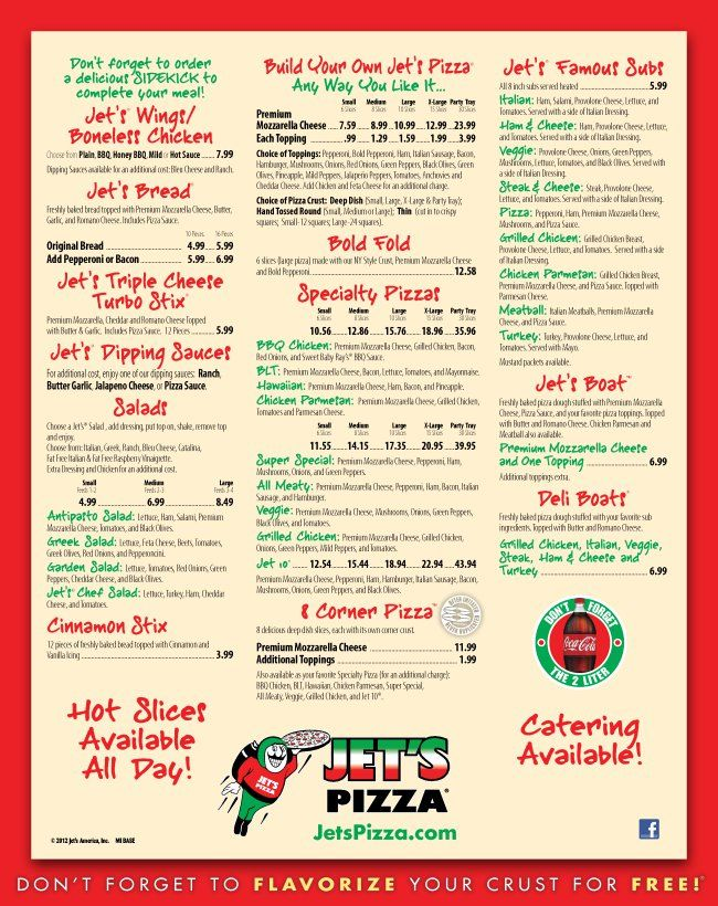 photograph relating to Jets Pizza Coupons Printable named Jets Pizza Michigan Jets Pizza, Pizza coupon codes, Pizza