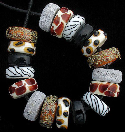 DSG Beads Handmade Organic Lampwork Glass Made by debbiesanders