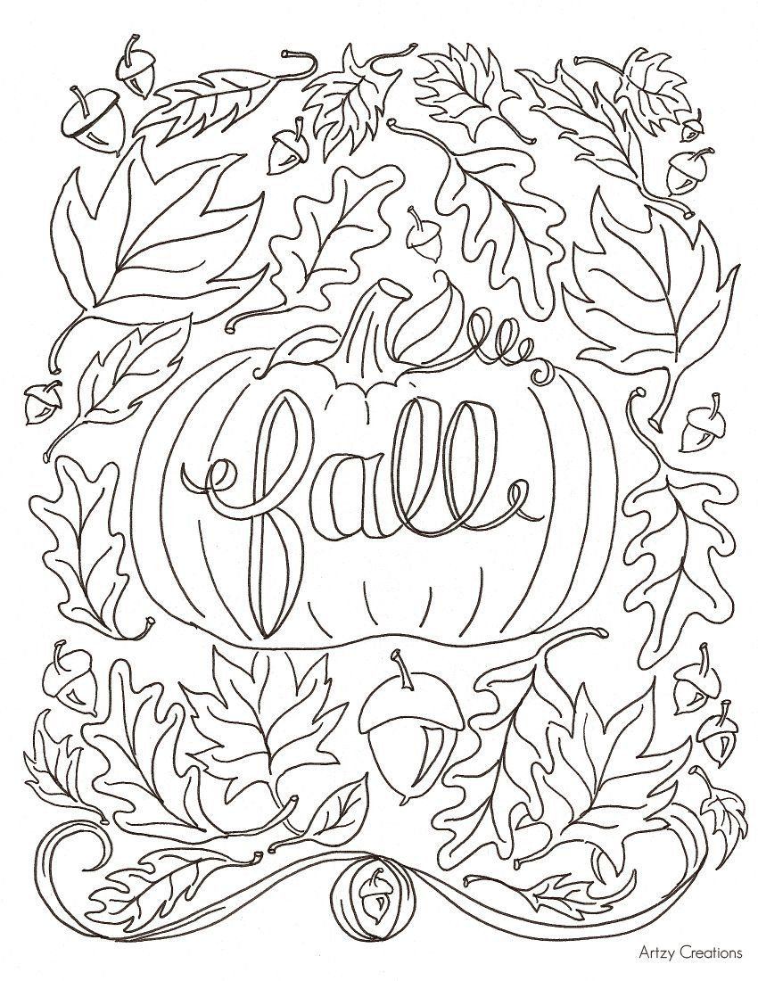 Autumn Coloring Pages For Adults Favourite Fall Colouring Blogger Autumn Fall Colouring In 2020 Fall Coloring Sheets Fall Coloring Pages Fall Leaves Coloring Pages