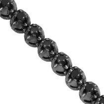 10k Gold Black Rhodium Plated Mens Black Diamond Tennis Chain 8 52 Ctw Diamond Chains For Men Black Rhodium Black Diamond