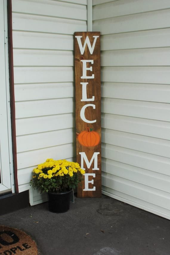 Welcome Sign Fall Welcome Sign Fall Decor Porch Decor Pumpkin Porch Sign Front Porch Fall Decorations Porch Halloween Porch Decorations Fall Decor
