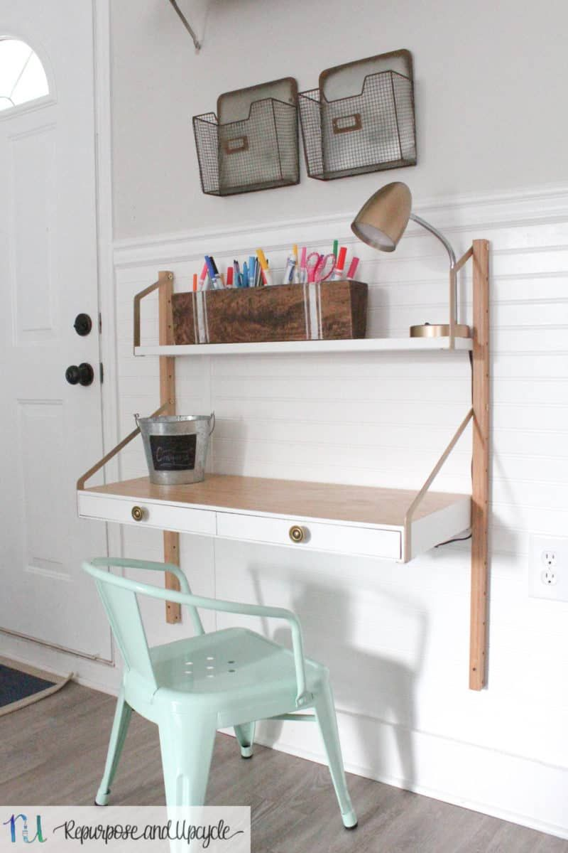 Kids Homework Station With Ikea Svalnas Wall Mounted Desk Kids
