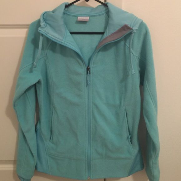 Hoodie by Columbia This is a light blue-green hoodie by Columbia. Only worn a few times and is like new. Very warm and comfortable. Columbia Tops Sweatshirts & Hoodies