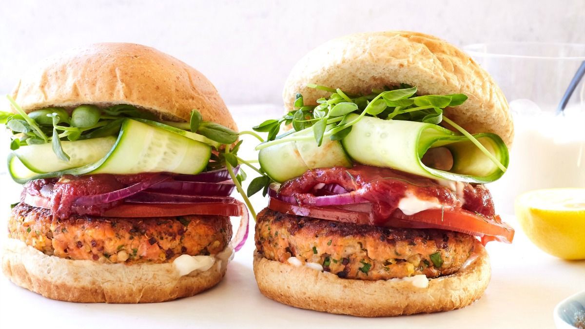 How to reheat frozen salmon burgers