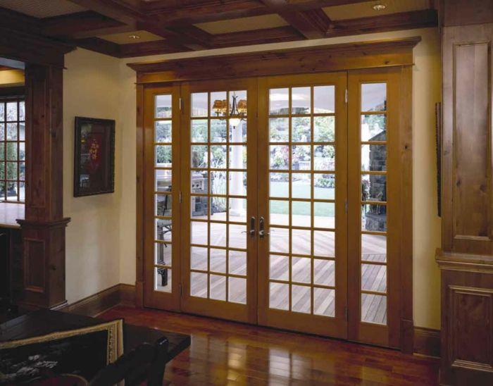 Zimmertüren holz mit glas  haustür aus holz haustür selber bauen türen glas drei elegant ...