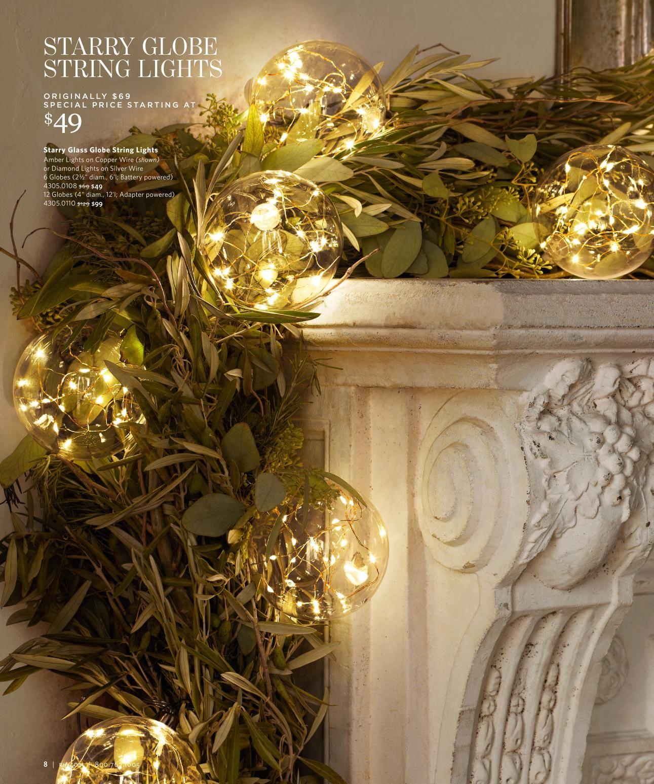 Stunning Globe Lights Restoration Hardware Christmas