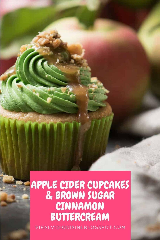 Apple Cider Cupcakes & Brown Sugar Cinnamon Buttercream #applecidercupcakeswithbrownsugar Apple Cider Cupcakes & Brown Sugar Cinnamon Buttercream#easterdesserts #easterdessertsrecipes #easterdessertsrecipeseasy