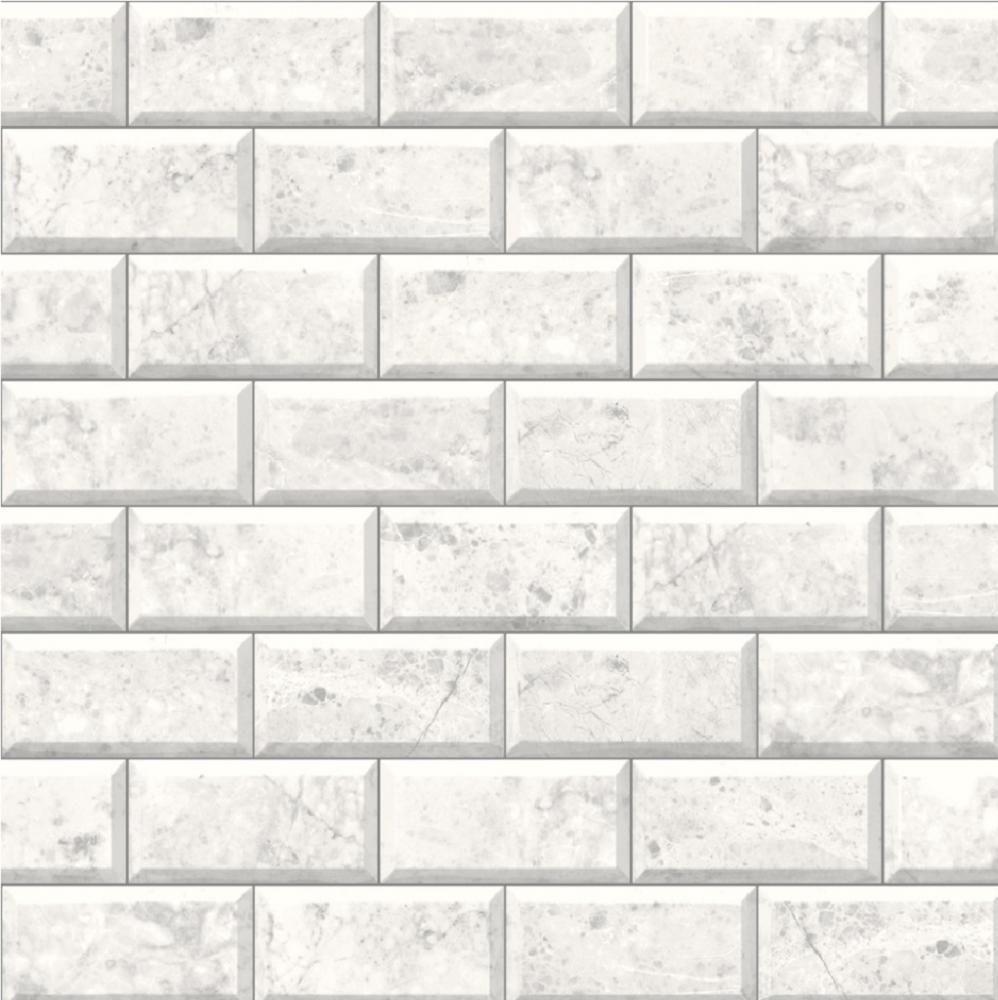 Marble Brick Tile Effect WallpaperWhite /& Grey