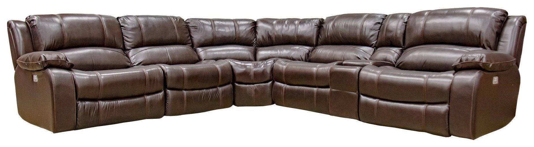 Excellent Concord Leather Six Piece Reclining Sofa With Power Headrest Ocoug Best Dining Table And Chair Ideas Images Ocougorg