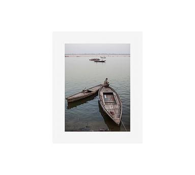 "Varanasi, India by Jesse Leake, 16 x 20"", Wood Gallery, White, Mat"