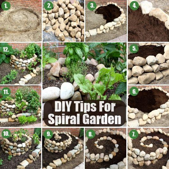20 Great Herb Garden Ideas: Tips-For-Spiral-Herb-Garden