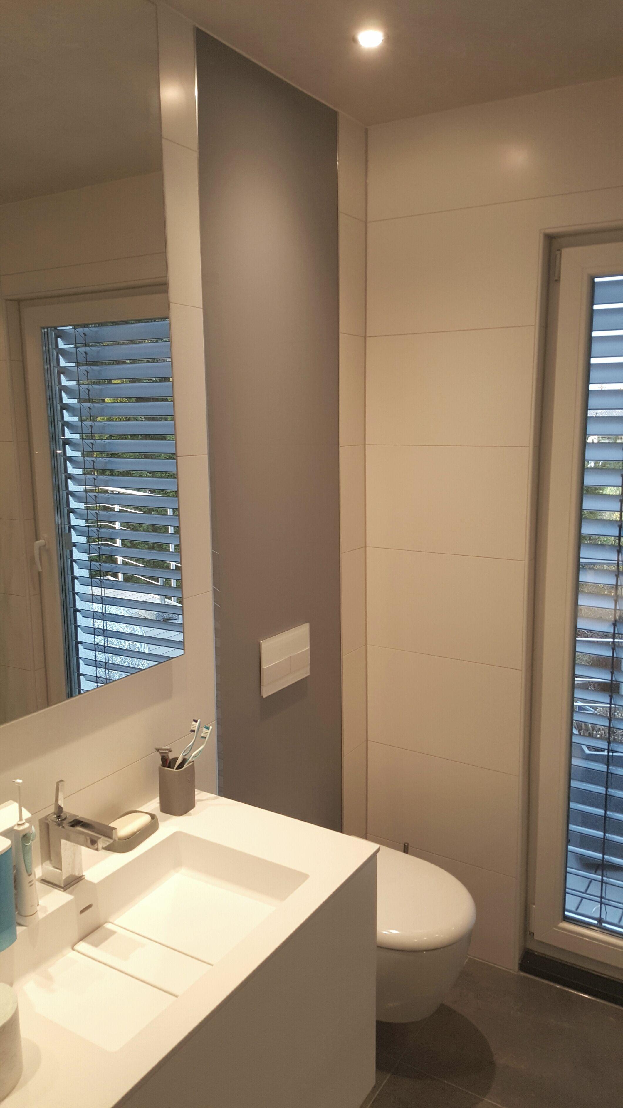 Verkleidungsplatten Badezimmer   Der Einbau Einer Panelle An Der Toilettenruckwand Bundig Mit Den