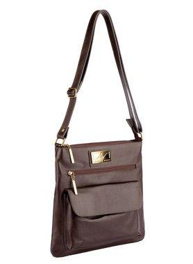 d4639bbe3 Bolsa Pequena Tiracolo Anny em couro legítimo café - Enluaze | Bolsas e  acessórios de couro