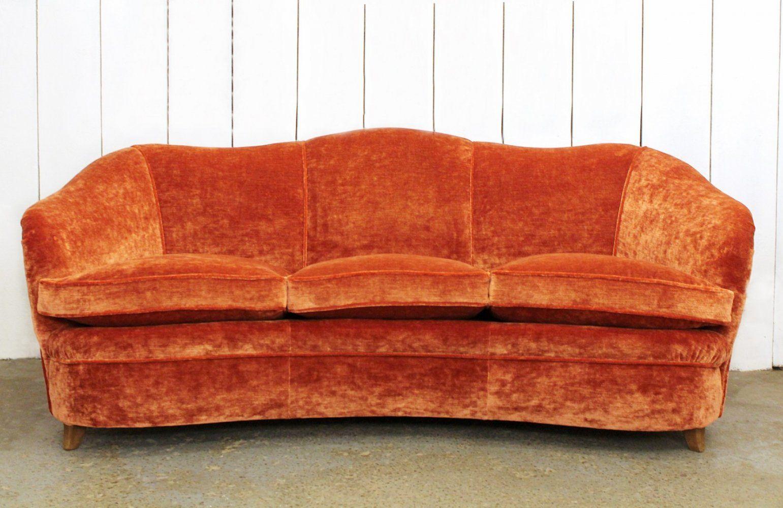 Swell Italian Velvet Sofa 1950S In 2019 Vintage Design Seating Machost Co Dining Chair Design Ideas Machostcouk