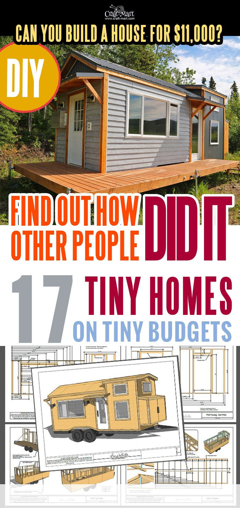 17 Best Custom Tiny House Trailers And Kits With Plans For Super Tight Budget Craft Mart Tiny House On Wheels Tiny House Trailer House On Wheels