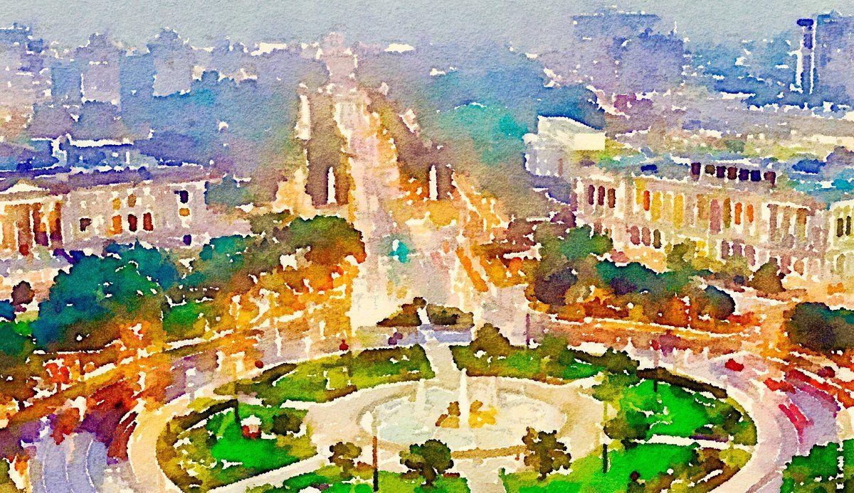 Eakins Oval Watercolor via #waterlogue