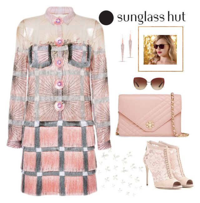 """Celebrate in Every Shade with Sunglass Hut: Contest Entry"" by rockingmother ❤ liked on Polyvore featuring Tory Burch, Marco de Vincenzo, Dolce&Gabbana and Umbra"