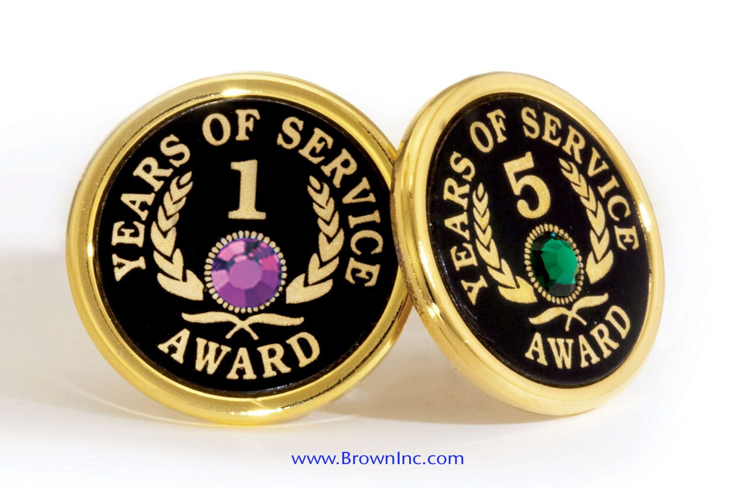Custom Years of Service Pins provide individual recognition