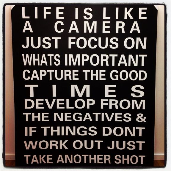 Life is a lot like this Quotes about photography