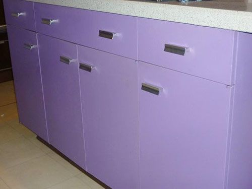 Purple And Walnut 1970 St Charles Metal Kitchen Metal Kitchen Purple Kitchen Cabinets Purple Kitchen