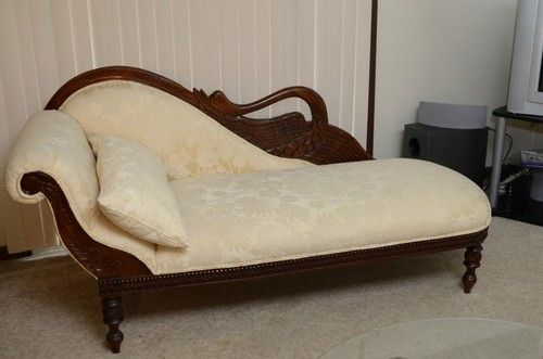 Swan Chaise Lounge Antique Looking Ohio | eBay : swan chaise - Sectionals, Sofas & Couches