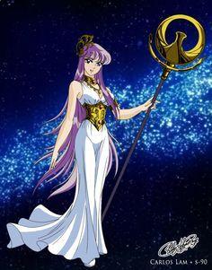 Saori Kido (Athena)  Coloring by Sunney90.deviantart.com on @DeviantArt