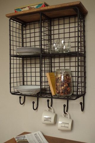 Tall Wire Storage Unit | Wall storage, Wood walls and Shelving