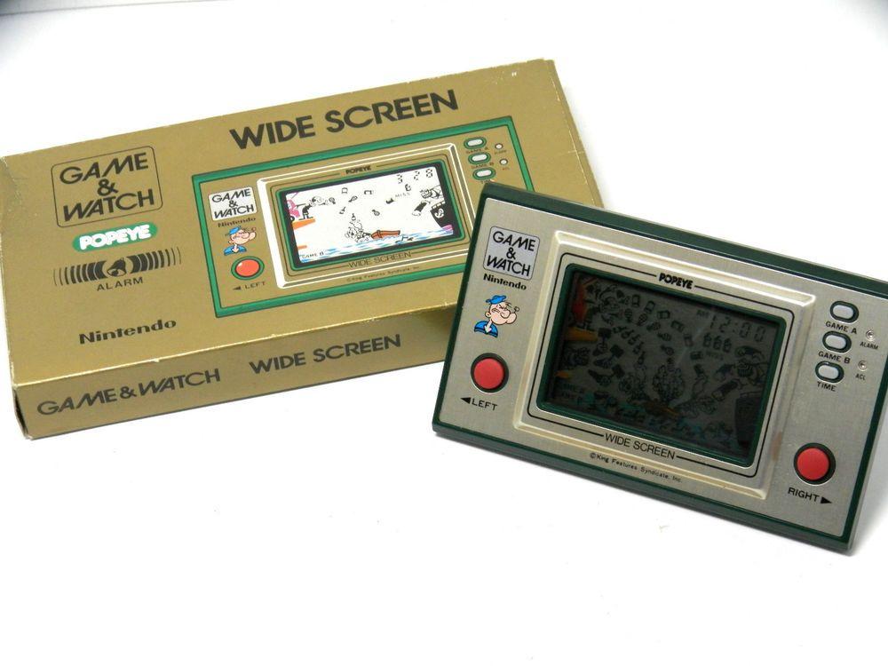 Nintendo Game & Watch Wide Screen Popeye PP23 Boxed MIJ